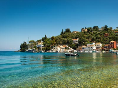 longos paxos greece ionian islands ionian sea longos paxos greece ionian islands ionian sea town sea coast boat